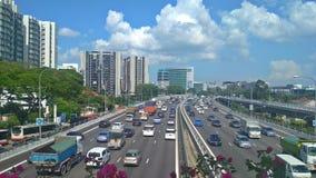 拥挤高速公路|新加坡 库存图片