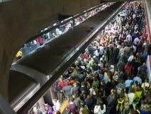 拥挤巴西Sé地铁站 免版税图库摄影