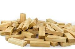 阻拦木比赛(jenga) 免版税库存照片