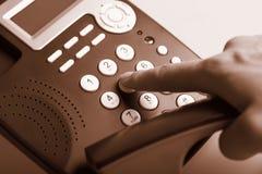 拨号的电话 免版税库存图片