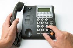 拨号的电话 免版税库存照片