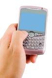 拨号的smartphone 库存照片