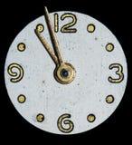 拨号盘葡萄酒妇女的手表 免版税库存照片
