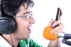 拨号程序歌唱家口气 免版税图库摄影