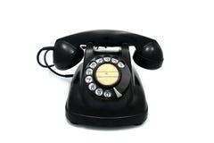 拨号老转台式电话 库存照片