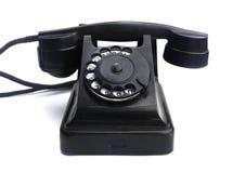 拨号老转台式telephon 免版税图库摄影