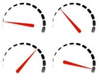 拨号,与红色需要的米模板和单元集在4个阶段, l 库存例证