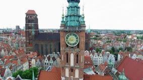 拨老钟楼,空中英尺长度 影视素材
