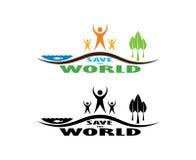 拯救世界。 库存图片