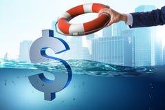 拯救美国美元货币的商人从中通货膨胀 免版税图库摄影