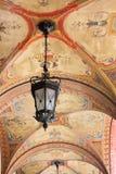 拱廊作壁画于 免版税库存照片