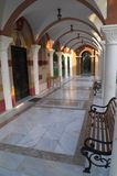拱廊教会 免版税库存照片