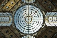 拱廊emanuele圆顶场所ii意大利米兰vittorio 图库摄影