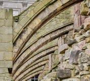 拱式扶垛建筑细节特写镜头  库存图片