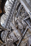 拱式扶垛,米兰大教堂,意大利中央寺院 库存图片
