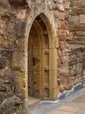 拱道在舍伍德森林英国附近的Rufford修道院诺丁汉 免版税库存照片