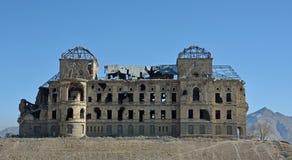 拱道在Darul阿门洲宫殿,阿富汗 库存照片