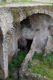 拱道,赫库兰尼姆考古学站点,褶皱藻属,意大利 库存照片