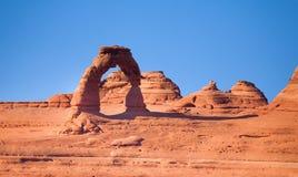 拱门国家公园和精美曲拱,美国 图库摄影