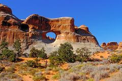 拱门国家公园犹他,美国 免版税库存图片