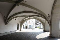 拱廊在卢赛恩 库存图片
