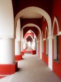 拱廊在市卡卢加州在俄罗斯 库存图片