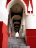拱廊在市卡卢加州在俄罗斯 免版税图库摄影