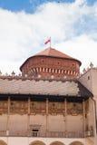 拱廊城堡克拉科夫波兰新生wawel 露台 库存图片