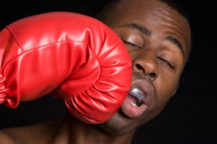 拳击人打孔机 免版税图库摄影