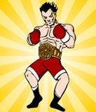 拳击冠军 库存照片