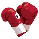 拳击剪报手套路径 免版税库存图片