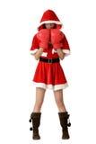 拳击圣诞节女孩手套 免版税图库摄影