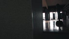 拳击大厅的内部 股票视频