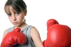 拳击女孩 免版税图库摄影