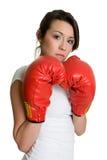 拳击妇女 免版税库存照片