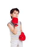 拳击手一点 库存照片