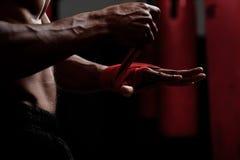 拳击手保护 图库摄影