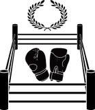 拳击手圆环钢板蜡纸  也corel凹道例证向量 库存照片