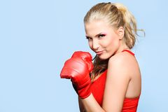 拳击手夫人 免版税图库摄影