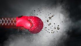 拳击手套惊奇 混合画法 库存图片