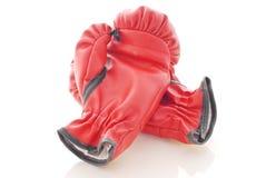 拳击手套皮革 免版税库存图片