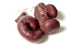 拳击手套葡萄酒 免版税库存图片