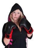 拳击手女孩 免版税图库摄影