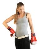 拳击手女性 免版税库存照片