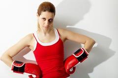 拳击手女性 免版税库存图片