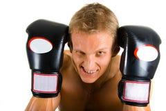 拳击手年轻人 免版税库存图片