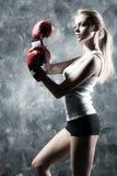 拳击手方式妇女 免版税库存图片