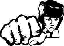 拳击手猛击 免版税库存图片