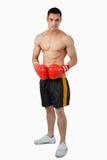 拳击手男性年轻人 库存照片