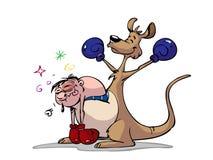 拳击手袋鼠 皇族释放例证